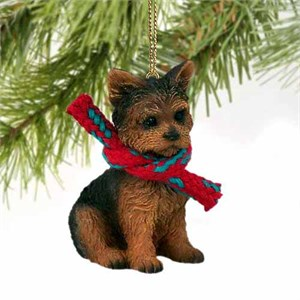 Yorkshire Terrier Tiny One Christmas Ornament Puppy Cut