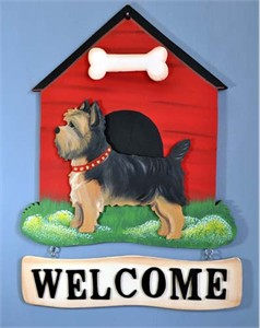 Yorkshire Terrier Welcome Sign