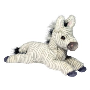Laydown Zebra Plush Stuffed Animal 15""