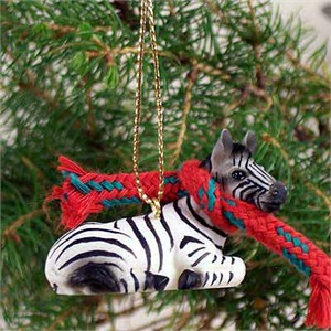 Zebra Tiny One Christmas Ornament